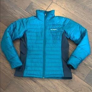 Turquoise Columbia Puffer Jacket